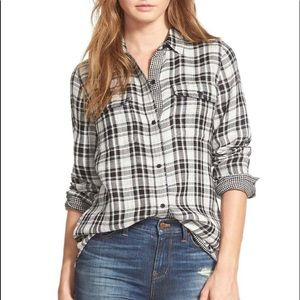Madewell Kemp Plaid Ex Boyfriend Shirt sz XL
